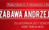 ZABAWA ANDRZEJKOWA 25 LISTOPADA 2017